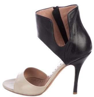 Jean-Michel Cazabat Leather Ankle Strap Sandals