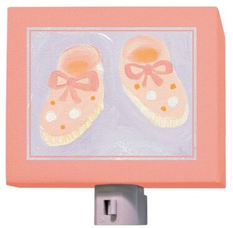 Oopsy Daisy Fine Art For Kids Baby Shoes Night Light