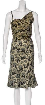Just Cavalli Metallic Floral Print Dress