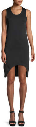 Helmut Lang Scoop-Neck Sleeveless Asymmetric Tank Dress