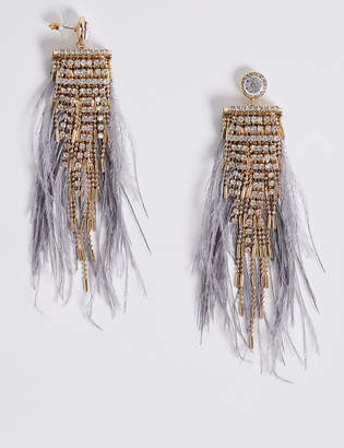 M&S Collection Glitz Drop Earrings