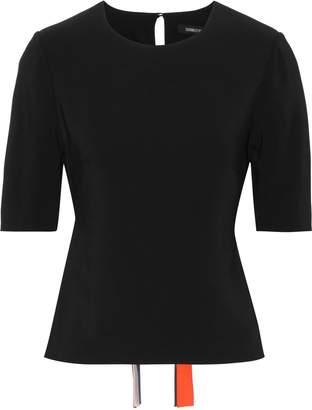 Cushnie Adia Tie-back Stretch-crepe Top