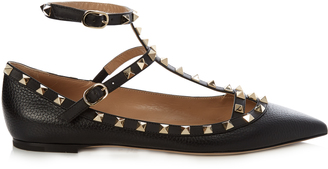 VALENTINO Rockstud leather flats $650 thestylecure.com