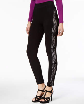 Thalia Sodi Lace-Trim Leggings
