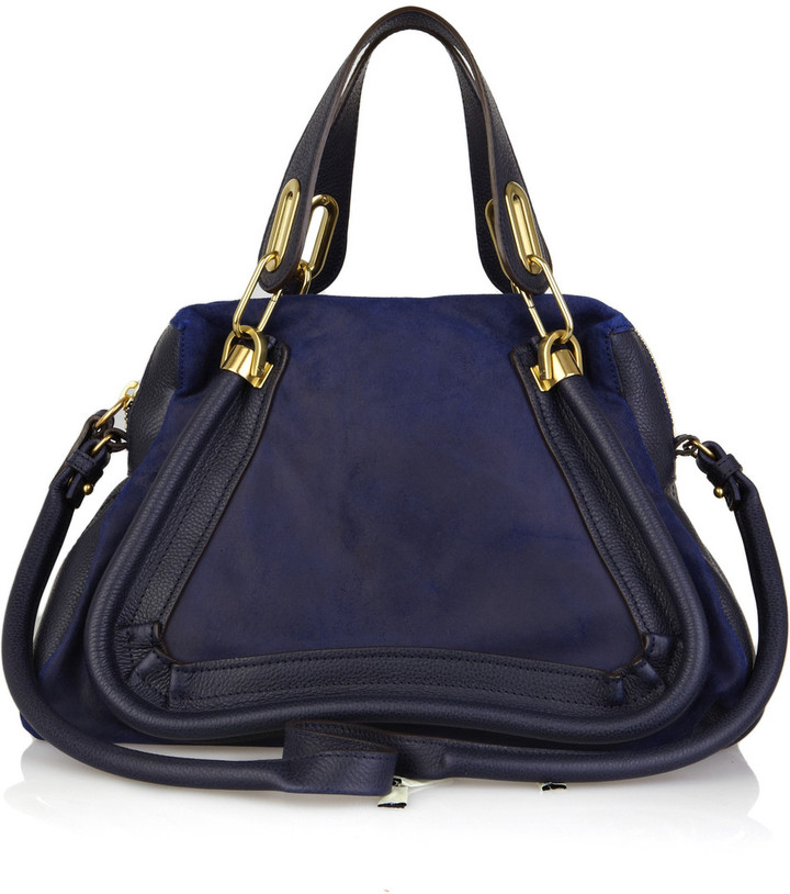 Chloé Paraty leather and suede bag