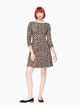 Kate Spade Leopard-print ponte dress