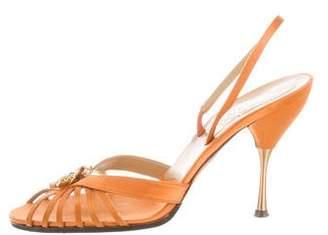 Valentino Floral Satin Sandals