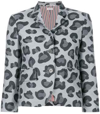 Thom Browne Leopard Wool & Silk Jacquard Sport Coat