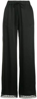 MM6 MAISON MARGIELA flared lace trousers
