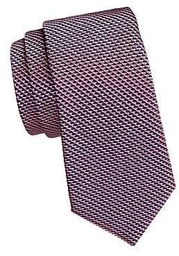 Emporio Armani Men's Micro Print Silk Tie