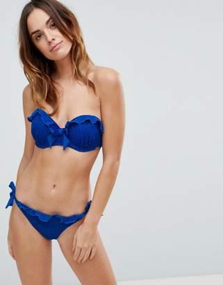 Lipsy lace frill bikini bottom