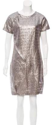 Brian Reyes Metallic Mini Dress