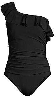 Gottex Swim Women's One-Shoulder Ruffle One-Piece Swimsuit