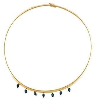 Shawn Warren 18K Sapphire Drop Signature Choker Necklace