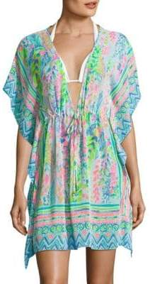 Gardenia Printed Cover-Up