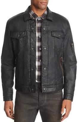 John Varvatos Sherpa-Lined Coated Denim Jacket - 100% Exclusive