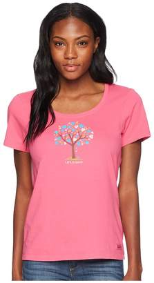 Life is Good The Love Tree Crusher Scoop Neck Tee Women's T Shirt