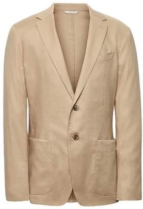 Banana Republic Heritage Slim Khaki Linen Suit Jacket
