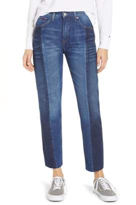Tommy Jeans Izzy Paneled Slim Ankle Jeans