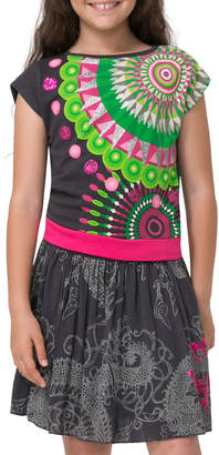 Desigual Glittered & Sequined Dress