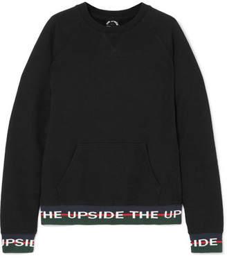 The Upside Hook French Cotton-terry Sweatshirt - Black