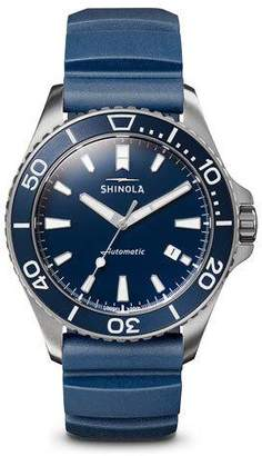 Shinola Men's 43mm Lake Michigan Watch w/ Rubber Strap