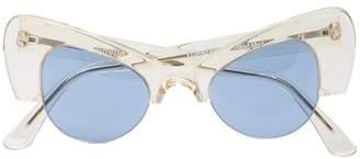 Illesteva translucent Emma cat eye acetate sunglasses