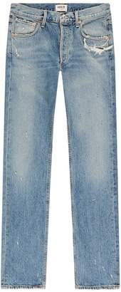 A Gold E Agolde Division Straight Leg Jeans