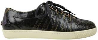 Billy Reid Black Leather Trainers