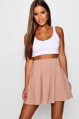 boohoo Petite Solid Colour Skater Skirt