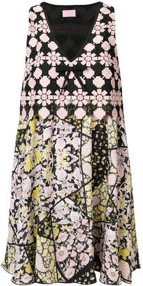 Giamba printed V-neck dress