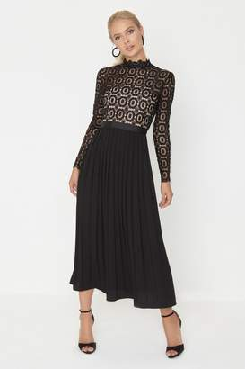 Little Mistress Black Midi Dress