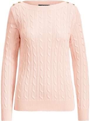 Lauren Ralph Lauren Ralph Lauren Button-Shoulder Cable Sweater