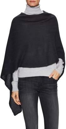 Portolano Women's Asymmetrical Knit Poncho