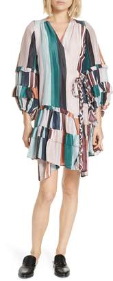 Apiece Apart Zarza Ruffle Wrap Minidress