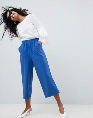 Asos DESIGN cropped straight leg pants in jersey crepe