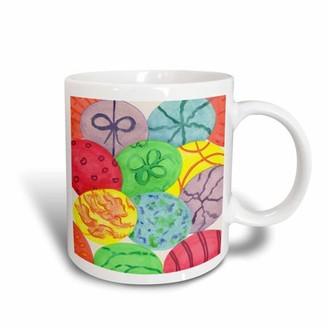 3dRose Painted Easter Eggs, Ceramic Mug, 15-ounce