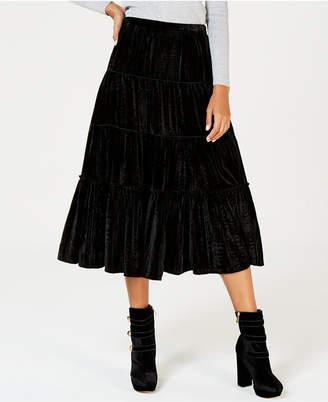 Michael Kors Crinkle Velvet Maxi Skirt