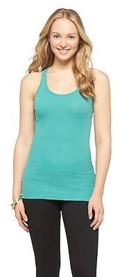 Women's Long & Lean Racer Back Tank - Mossimo Supply Co. (Juniors') $9 thestylecure.com