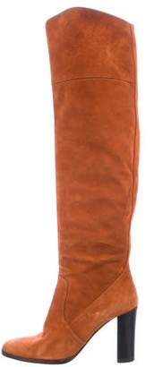 Hermes Suede Over-The-Knee Boots