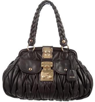 Miu MiuMiu Miu Matelassé Shopping Bag