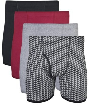 Gildan Big Men's 2XL Covered Waistband Boxer Brief Underwear, 4-Pack