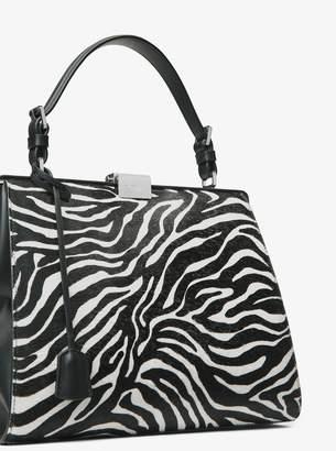 Michael Kors Simone Zebra Calf Hair Top-Handle Bag