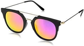 Foster Grant Item 8 Sp.7 Round Black Women's Designer Sunglasses
