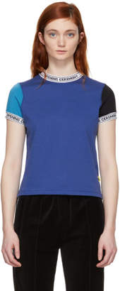 Opening Ceremony Blue Banded Neck T-Shirt