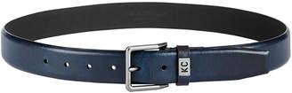 Kenneth Cole Reaction Men Pebble-Grain Feather-Edge Dress Belt