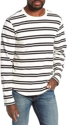 Frame Classic Fit Long Sleeve Stripe Crewneck T-Shirt