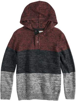 Boys 8-20 Urban Pipeline Henley Pull-Over Hoodie Sweater