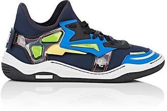Lanvin Men's Mixed-Fabric Sneakers - Navy