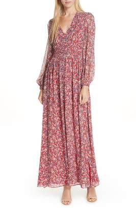 Nicholas Red Blossom Silk Maxi Dress